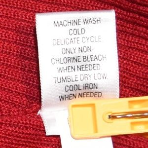 croft & barrow Sweaters - Red Sleeveless Mock Turtleneck Sweater